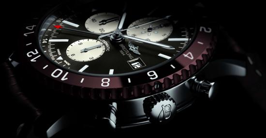 """百年灵航空飞行计时腕表(CHRONOLINER)推出两款全新""""机长专用腕表"""""""